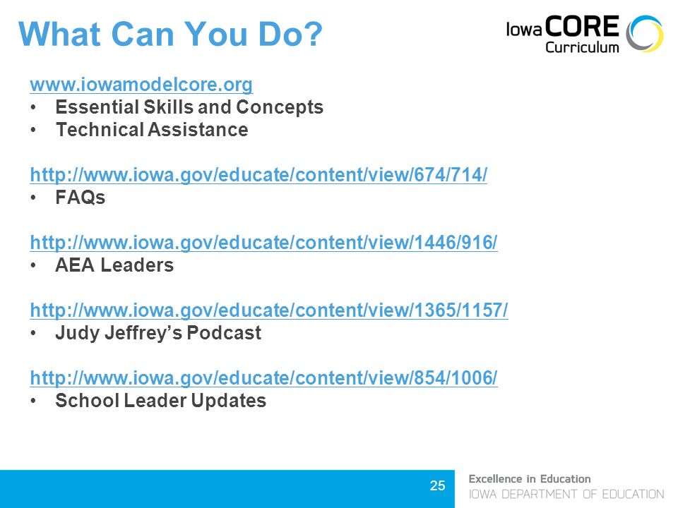 25   Essential Skills and Concepts Technical Assistance   FAQs   AEA Leaders   Judy Jeffrey's Podcast   School Leader Updates What Can You Do