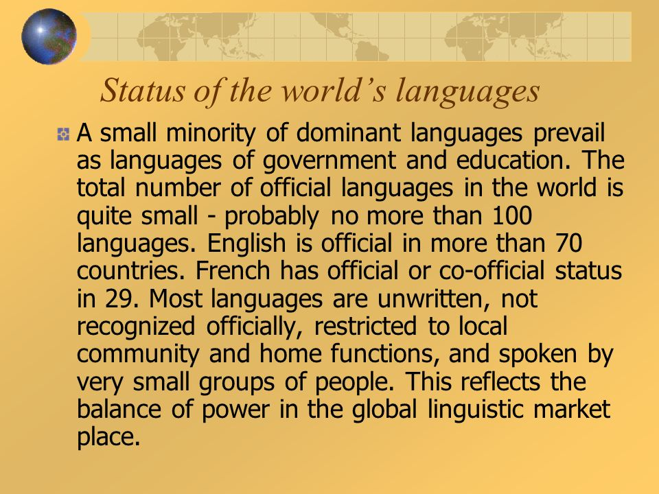 Multilingualism In The Global Village Curse Of Babel Or Gift Of - Total languages in world