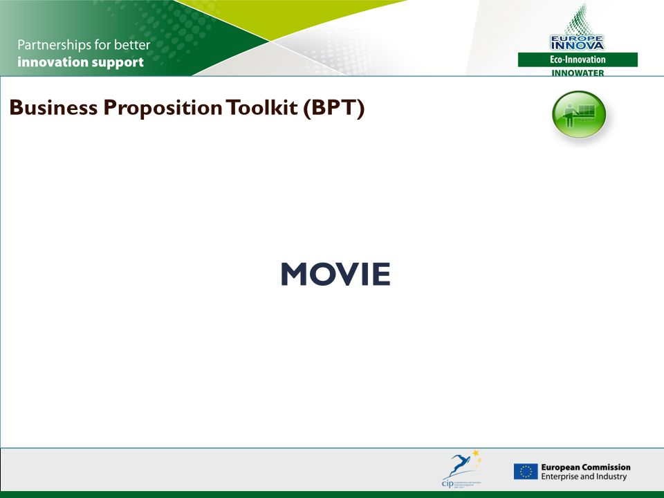 MOVIE Business Proposition Toolkit (BPT)