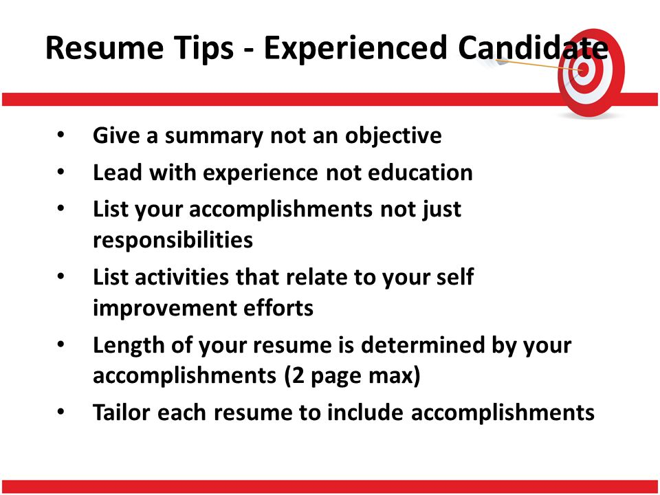 target your resume for success betty davis smith ppt download