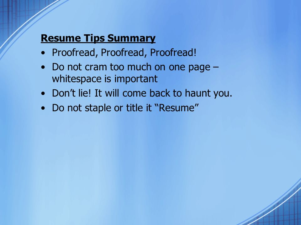 resumes interviewing susan moumblow a resume is the first