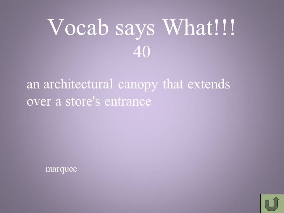 Vocab says What!!.