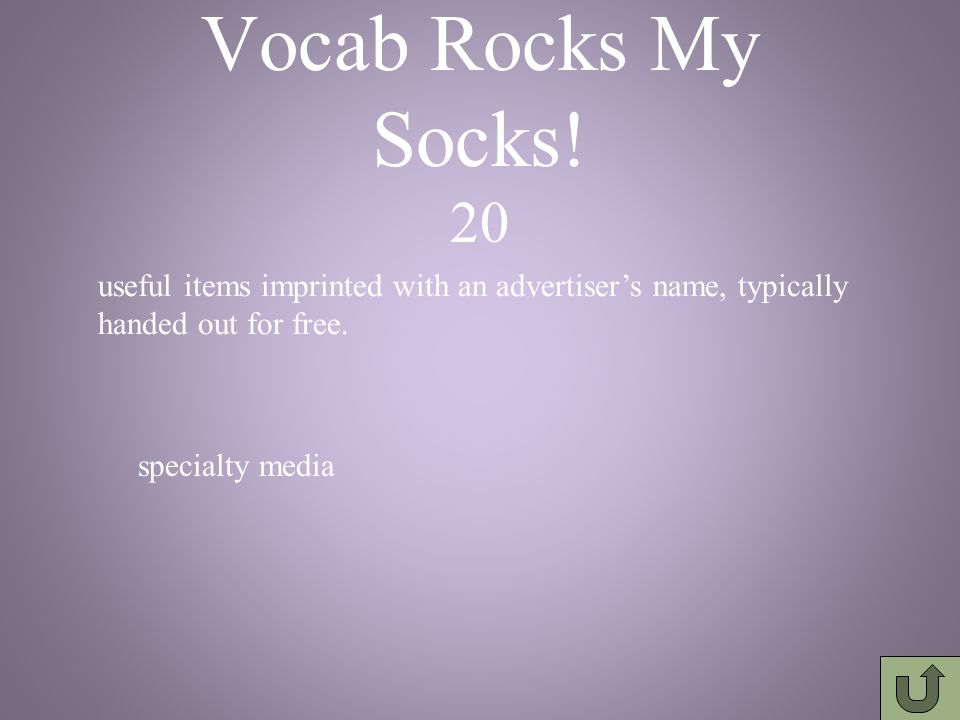 Vocab Rocks My Socks! 10 printed posters on subways, buses, and trains transit advertising