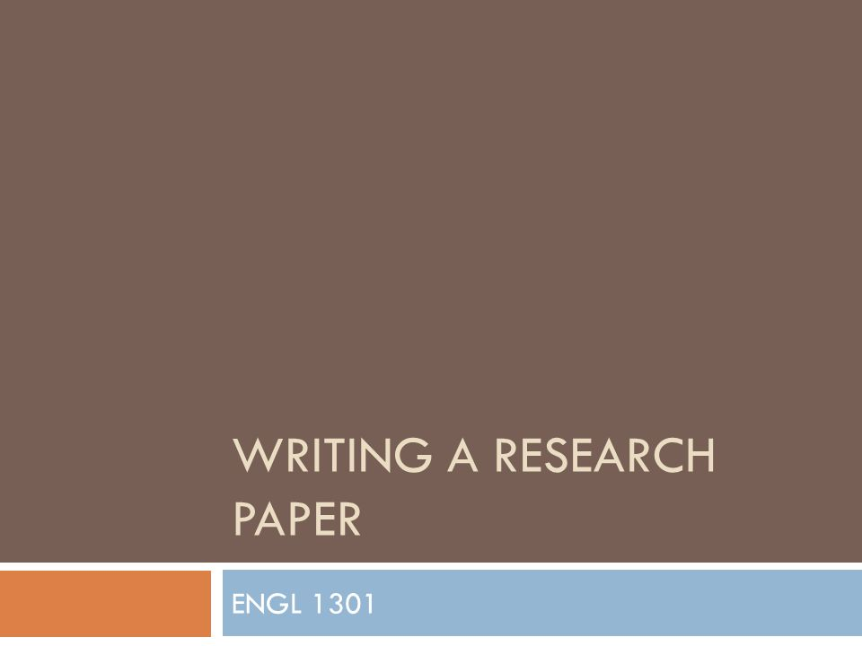 What would be a good research paper topic to write about for my Eng 1301 class?