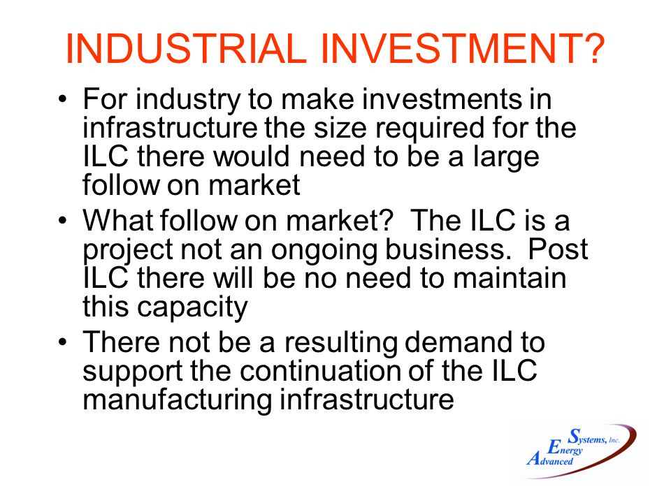 INDUSTRIAL INVESTMENT.