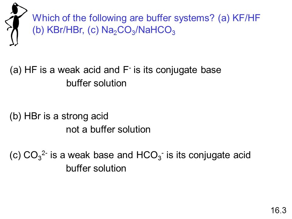 Which of the following are buffer systems.