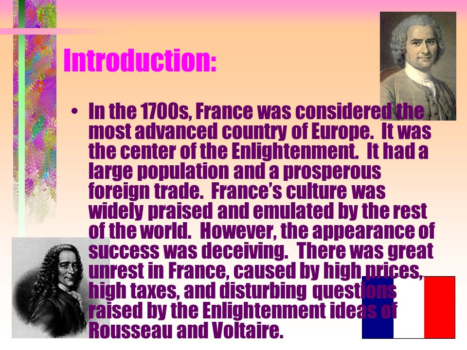 What should i put in my introduction of the French Revolution?