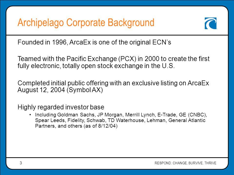 Presentation For Rowan Companies Inc By The Archipelago Exchange