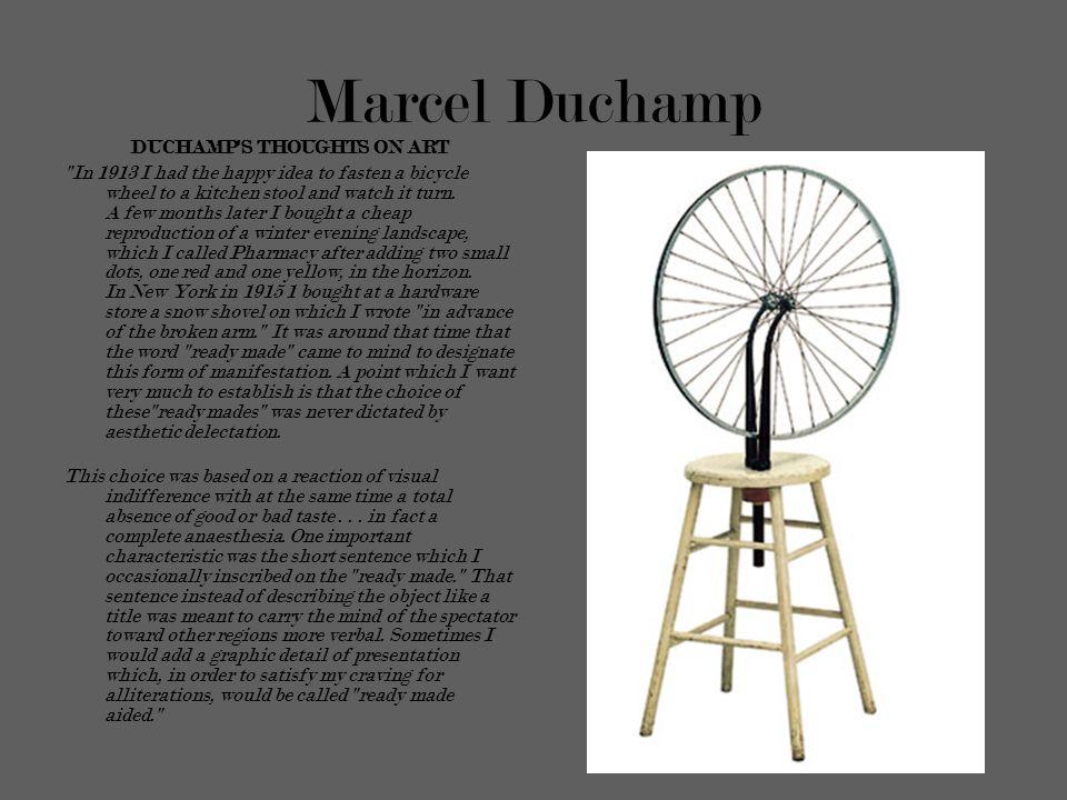 marcek duchamp readymades the bicycle wheel essay Still, when wheel essay descriptive bicycle marcel duchamp i marcel duchamp yeats on essay introduction to wb magic.