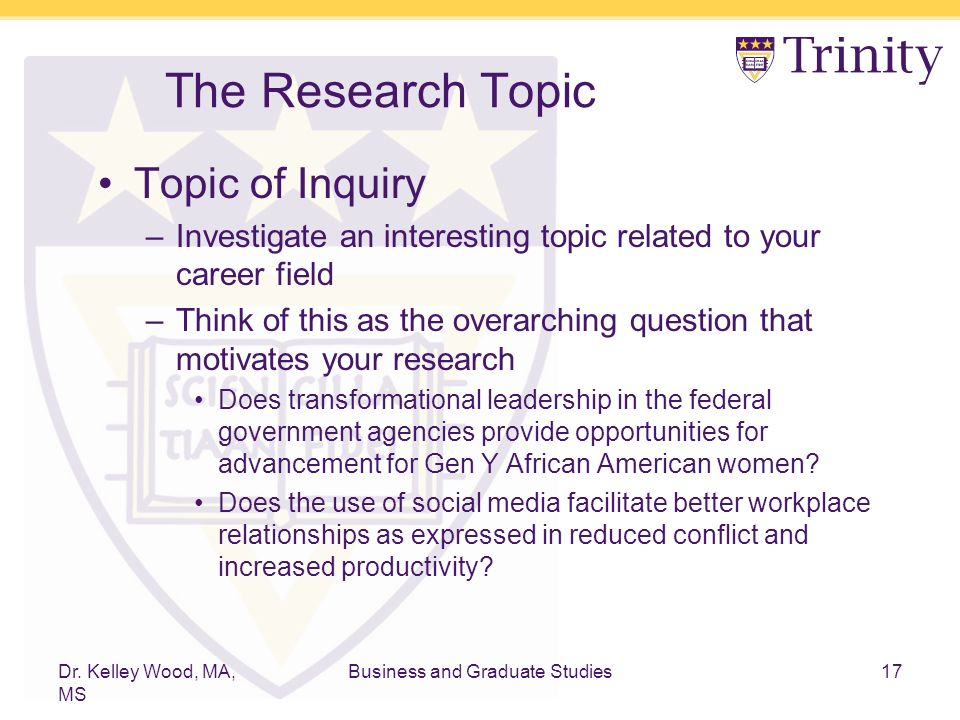 Research topic similar to this?!?
