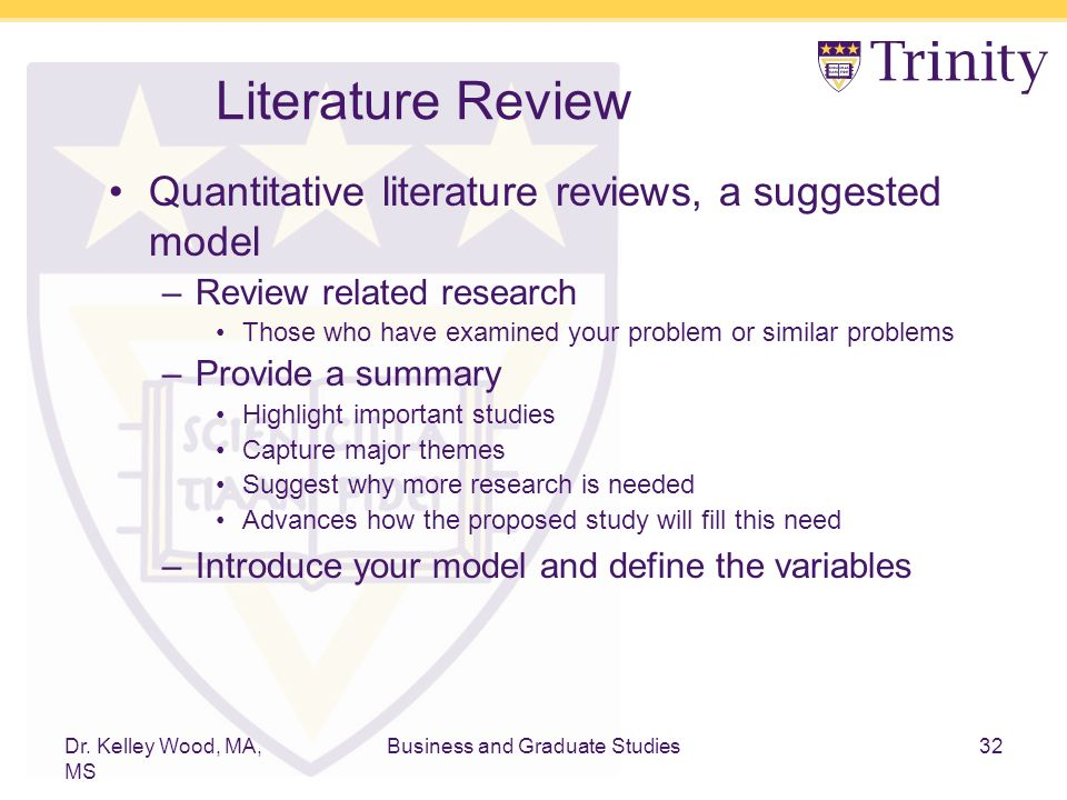 importance of review of related literature in thesis