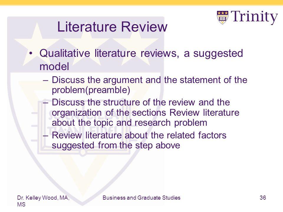 Discuss literature review