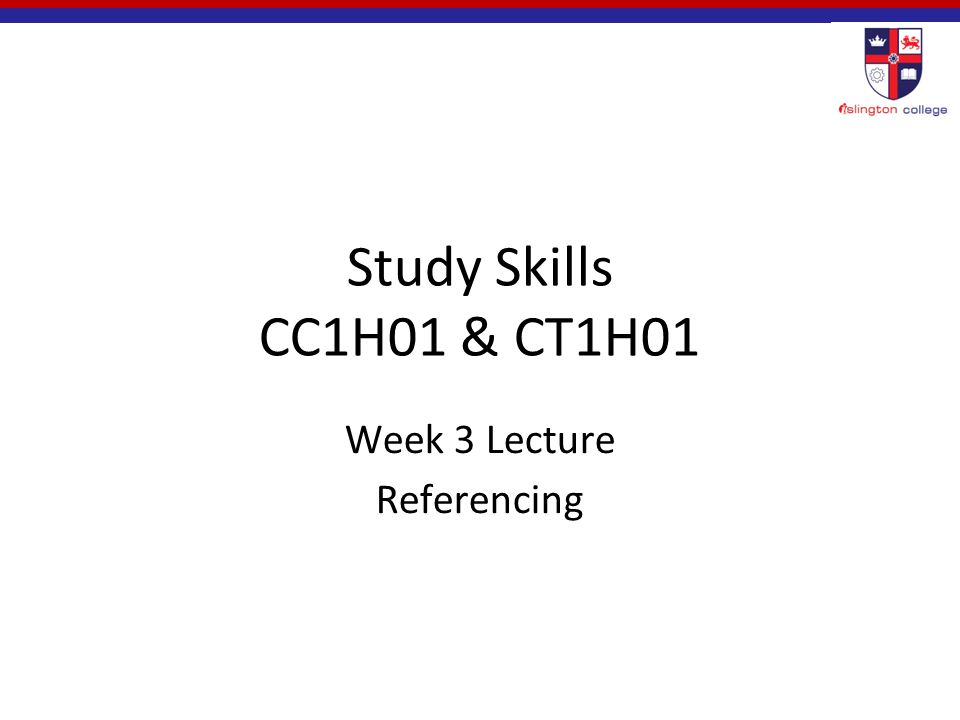 Study skills cc1h01 ct1h01 week 3 lecture referencing ppt 1 study skills cc1h01 ct1h01 week 3 lecture referencing fandeluxe Gallery