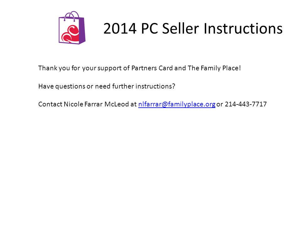 2014 PC Seller Instructions View your sales 'real-time'