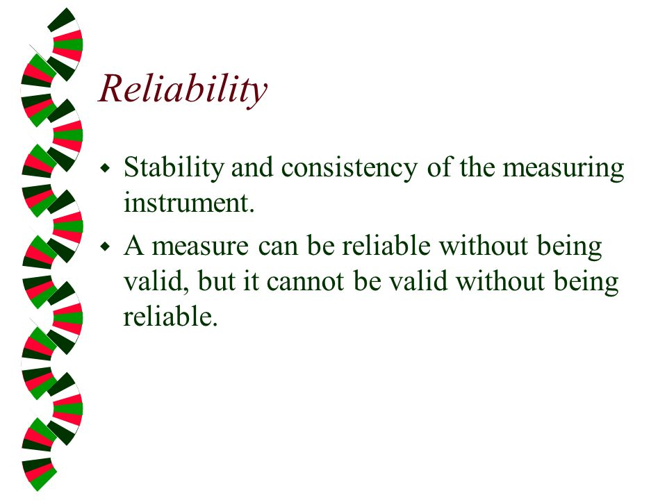 Reliability research
