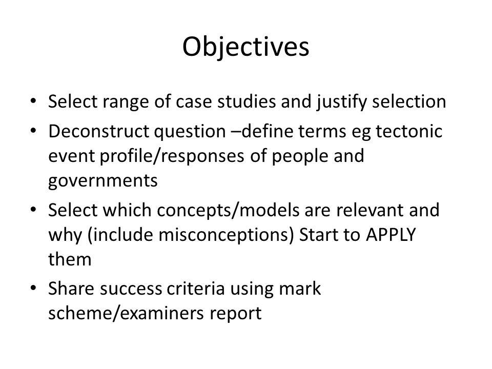 Define case studies