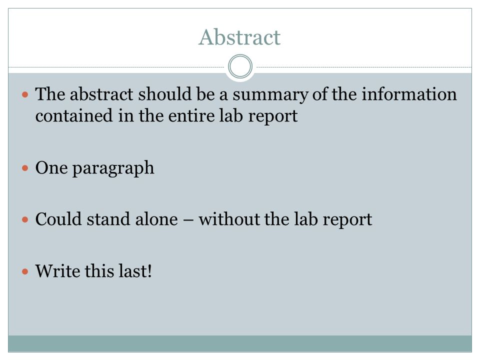 lab report abstract the lab report writing at the university of   pdf sample lab report pdf