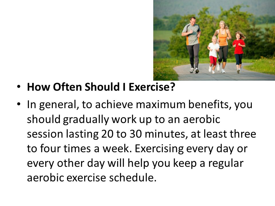 How Often Should I Exercise.
