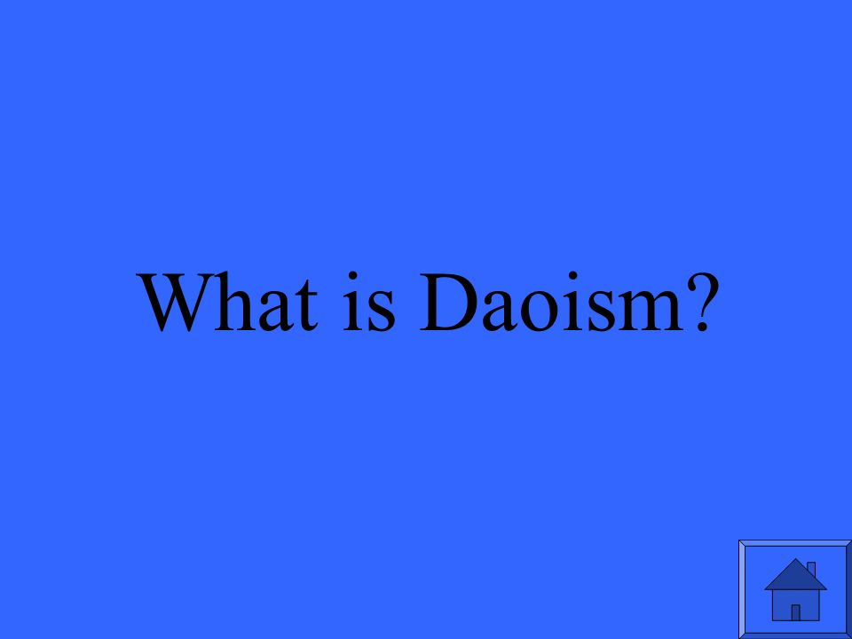 What is Daoism
