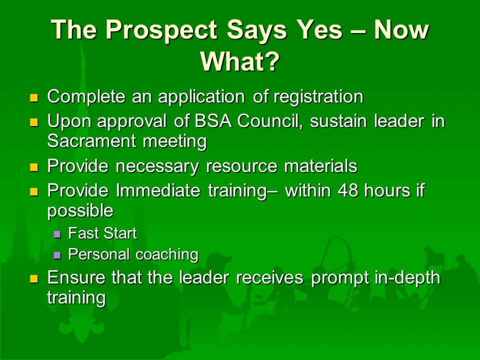 The Prospect Says Yes – Now What.