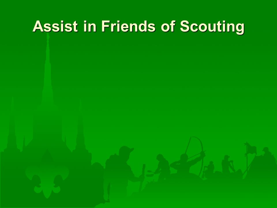 Assist in Friends of Scouting