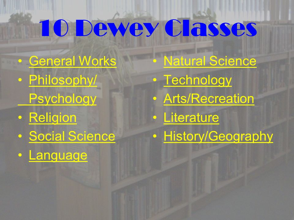 What Is the Dewey Decimal System.