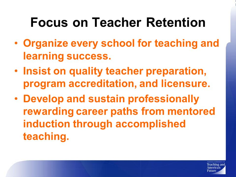teacher retention Teacher retention in tennessee re e eepin our best teachers 1 executive summary this report examines the extent to which teacher retention rates in tennessee.