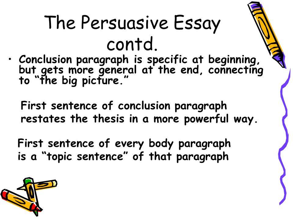 good persuasive essay ideas