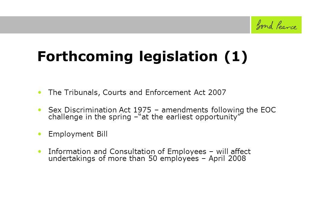 The sex discrimination act 1975 amendment regulations 2008