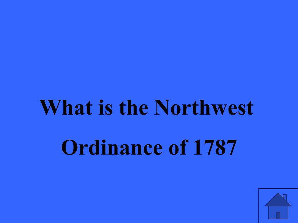 What is the Northwest Ordinance of 1787