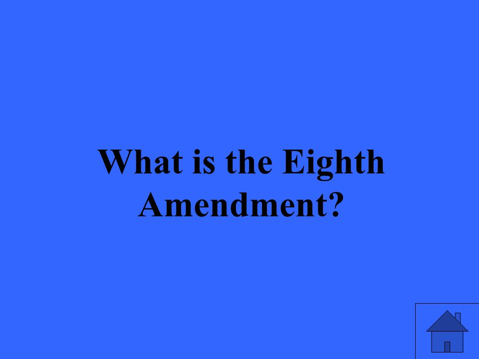What is the Eighth Amendment