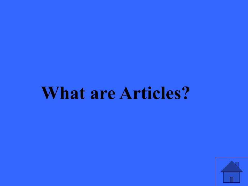 What are Articles