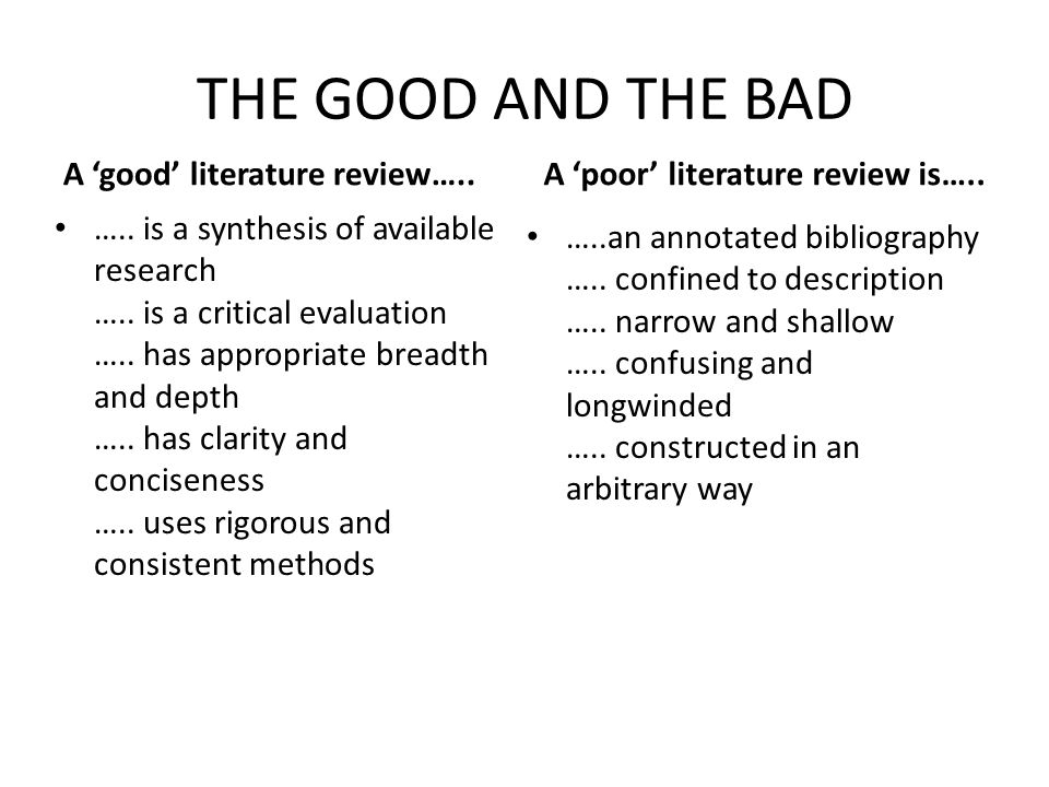 critical appraisal literature review example