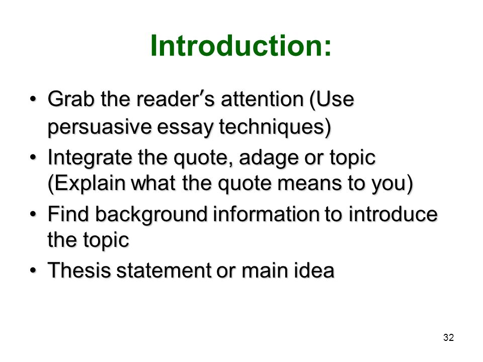 attention grabbers persuasive essays