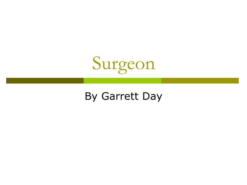 job description for a surgeon