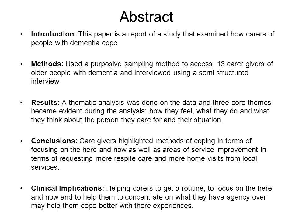 dementia paper