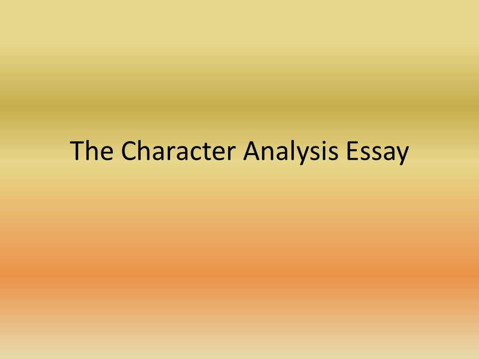 the character analysis essay the introduction go hook mention  2 the character analysis essay