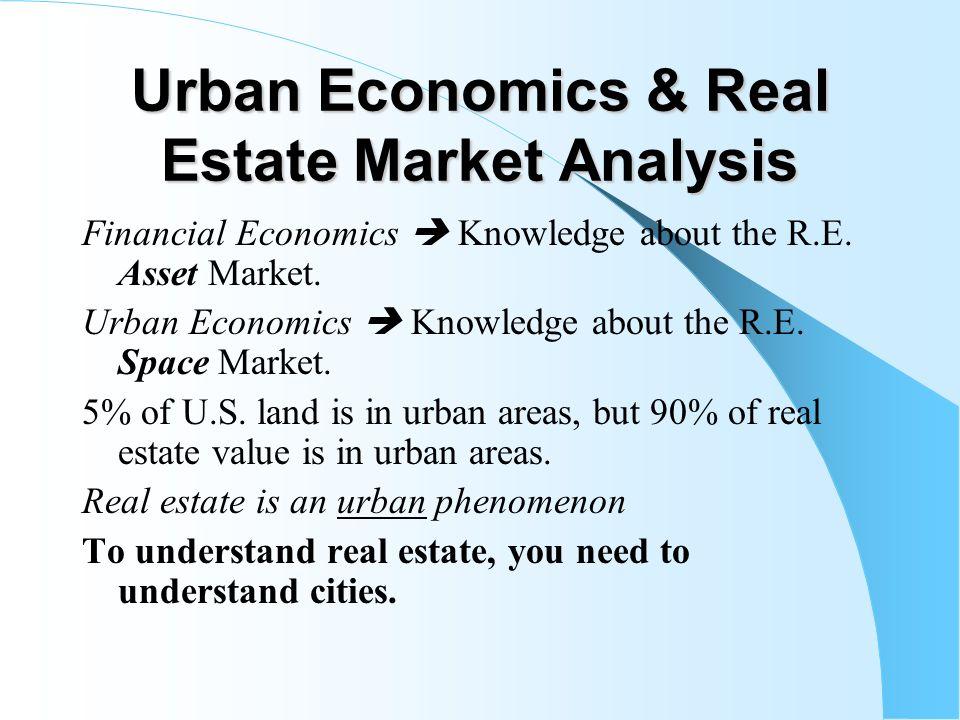 Chapter 3 Urban Economics Real Estate Market Analysis ppt – Real Estate Market Analysis