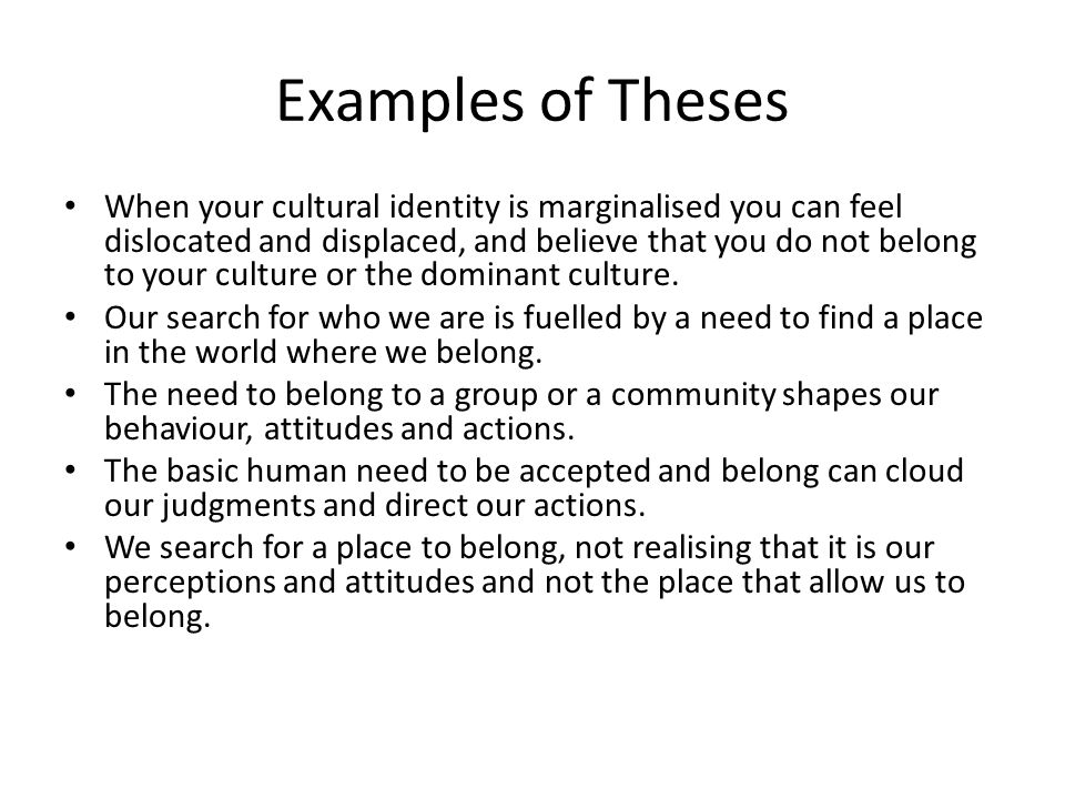 Identity And Belonging Essay