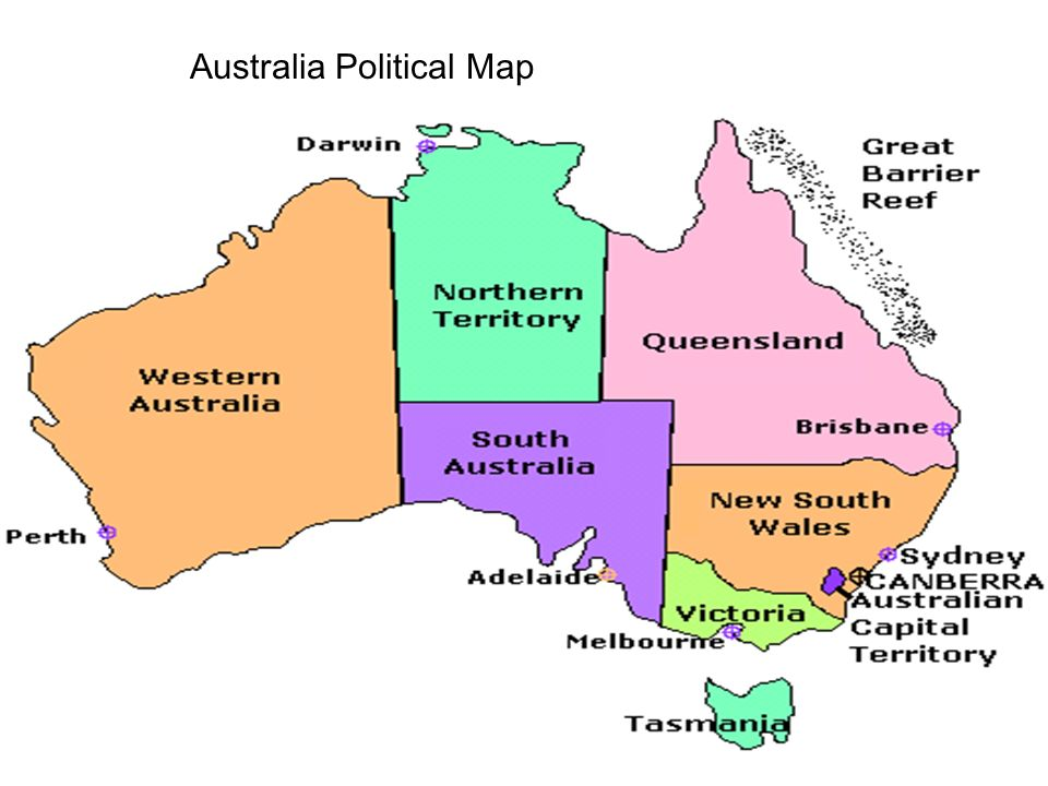 Geography Blog Political Maps Australia – Political Map of Australia with Capitals