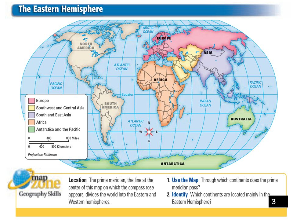1 there are four cardinal or main directions north south in addition to expressing location the equator divides the world into the northern and southern hemispheres the prime meridian divides it into eastern and sciox Choice Image