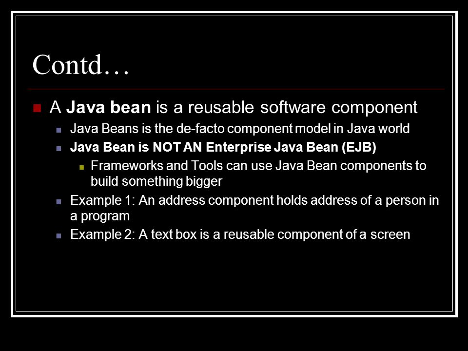 bdk java beans software