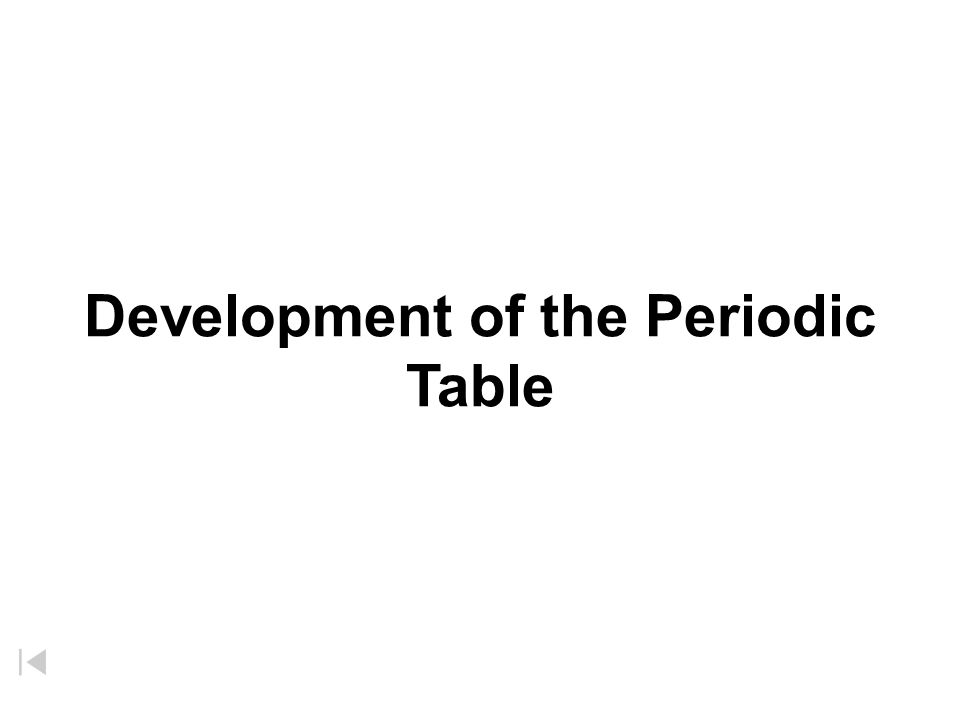 Development of the periodic table mendeleevs periodic table 1 development of the periodic table urtaz Images
