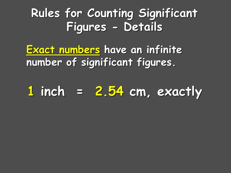 Rules for Counting Significant Figures - Details Zeros Trailing zeros are significant only if the number contains a decimal point.