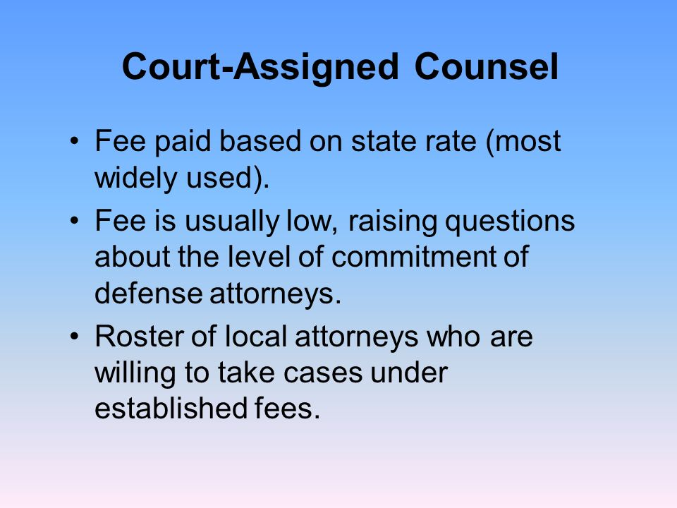 Assigned counsel inc