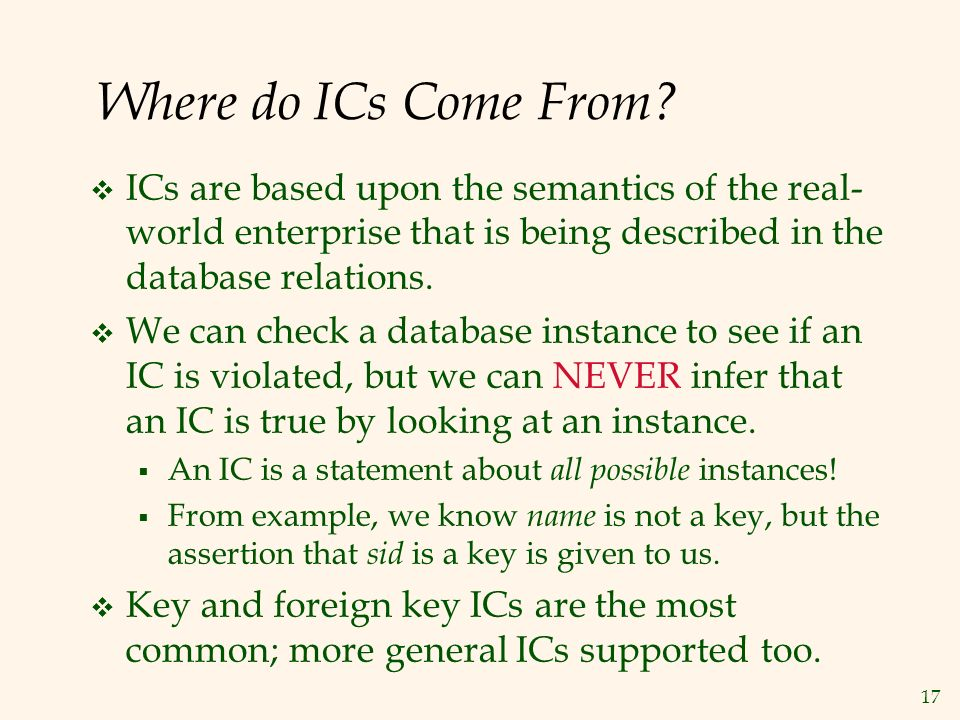 17 Where do ICs Come From.