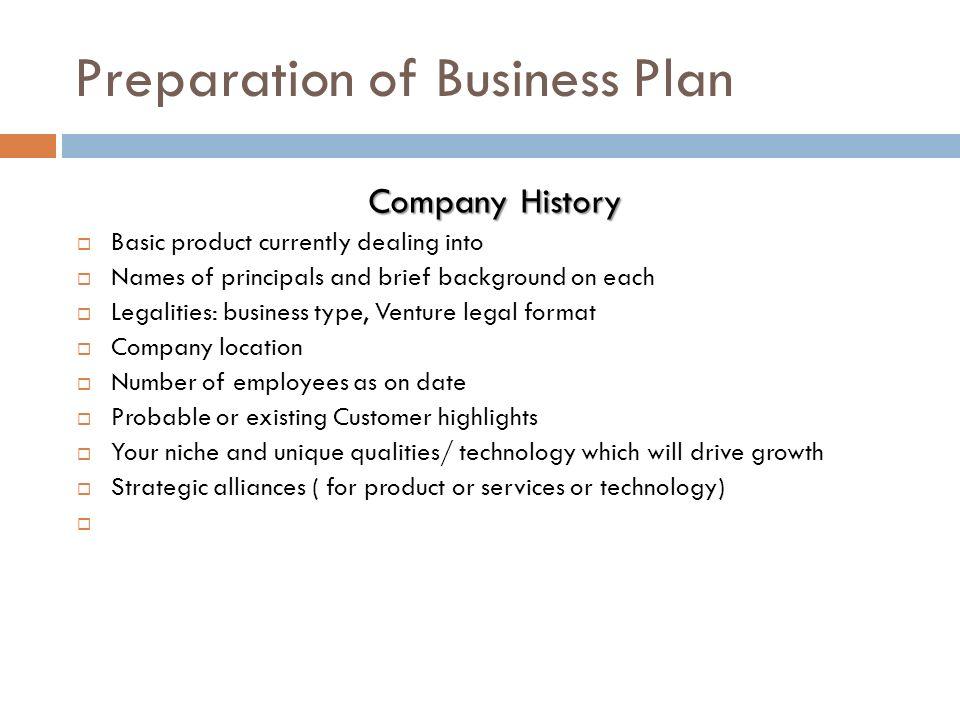 how to write a company history