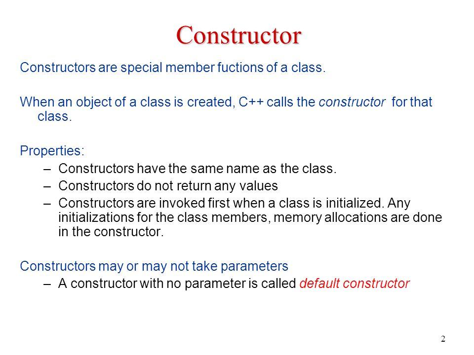 Copy constructor assignment operator