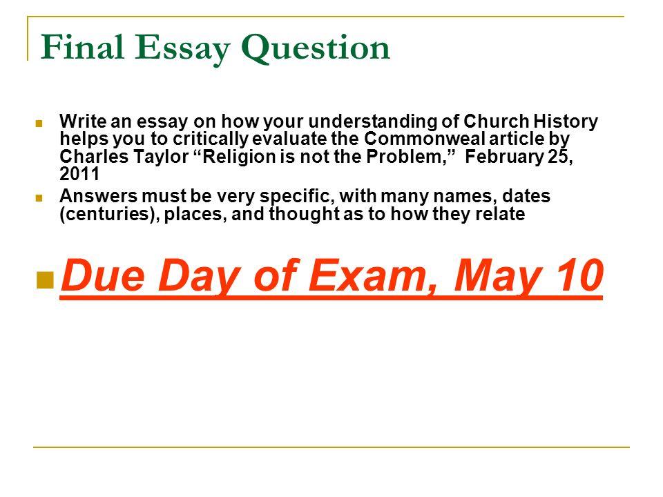 finall essay