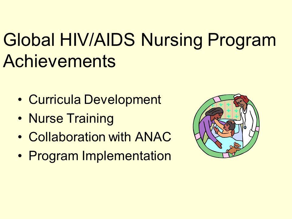 Global HIV/AIDS Nursing Program Achievements Curricula Development Nurse Training Collaboration with ANAC Program Implementation